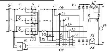 принципиальная схема трехфазного трансформатора